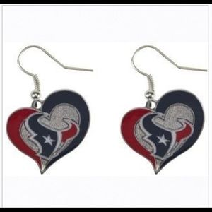 NEW!  NFL Licensed Houston Texans Earrings